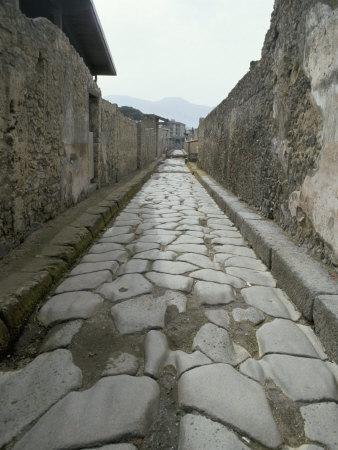 Street, Pompeii, Campania, Italy