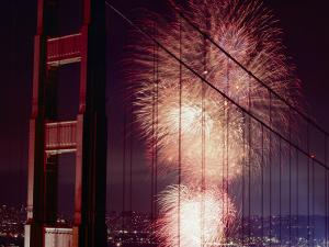 Golden Gate Bridge Celebration Marking the 50Th Anniversary of its Opening by Michael Nichols