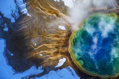 Yellowstone's Grand Prismatic Spring, the largest hot spring in the United States. by Michael Nichols