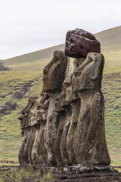15 Moai Restored Ceremonial Site of Ahu Tongariki by Michael Nolan