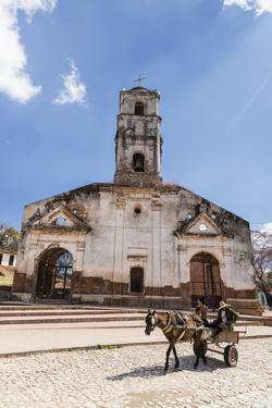 A horse-drawn cart known locally as a coche, Trinidad, UNESCO World Heritage Site, Cuba, West Indie by Michael Nolan