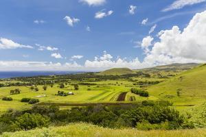 A View of the Outskirts of Hanga Roa, Rapa Nui National Park, Easter Island (Isla De Pascua) by Michael Nolan