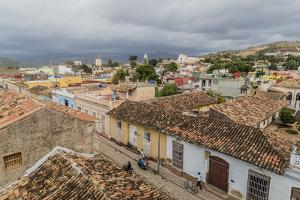 A view of the Plaza Mayor, Trinidad, UNESCO World Heritage Site, Cuba, West Indies, Caribbean, Cent by Michael Nolan