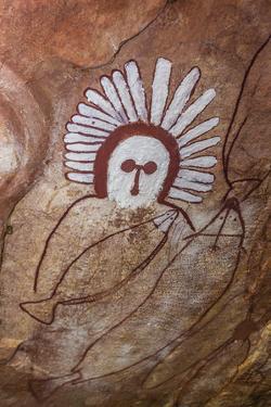 Aboriginal Wandjina Cave Artwork in Sandstone Caves at Raft Point, Kimberley, Western Australia by Michael Nolan