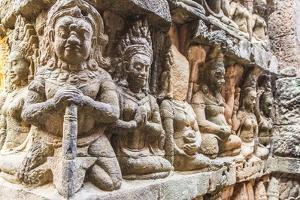 Apsara Carvings in the Leper King Terrace in Angkor Thom by Michael Nolan