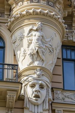 Art Nouveau Style Architecture Locally known as Jugendstil, Riga, Latvia, Europe by Michael Nolan