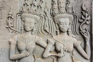 Bas-Relief Frieze at Angkor Wat by Michael Nolan