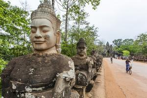 Bicycles Near the South Gate at Angkor Thom by Michael Nolan