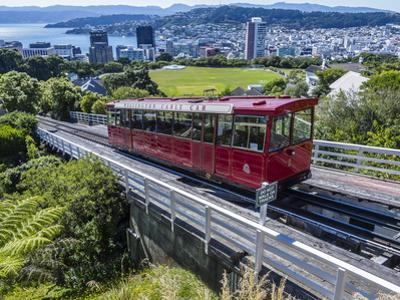 Cable Car, Wellington, North Island, New Zealand, Pacific by Michael Nolan