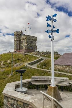 Cabot Tower, Signal Hill National Historic Site, St. John'S, Newfoundland, Canada, North America by Michael Nolan