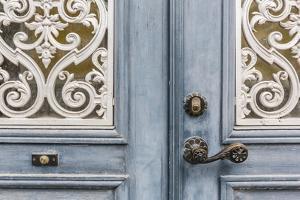 Door Detail in the Town of Visby, Gotland Island, Sweden, Scandinavia, Europe by Michael Nolan