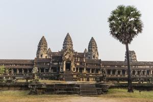 East Entrance to Angkor Wat, Angkor, UNESCO World Heritage Site, Siem Reap, Cambodia, Indochina by Michael Nolan