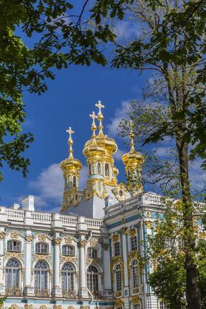 Exterior View of the Catherine Palace, Tsarskoe Selo, St. Petersburg, Russia, Europe