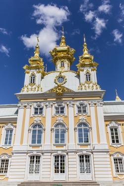 External View of Peterhof, Peter the Great's Palace, St. Petersburg, Russia, Europe by Michael Nolan