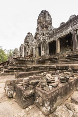 Face Towers in Bayon Temple in Angkor Thom by Michael Nolan