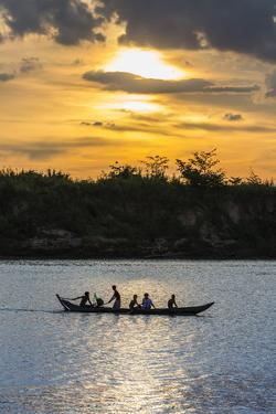 Fishing Boat Near the Village of Angkor Ban by Michael Nolan