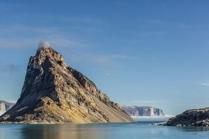 Fog Lifting on the Steep Cliffs of Icy Arm, Baffin Island, Nunavut, Canada, North America by Michael Nolan