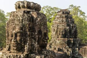 Four-Faced Towers in Prasat Bayon, Angkor Thom, Angkor, UNESCO World Heritage Site, Cambodia by Michael Nolan
