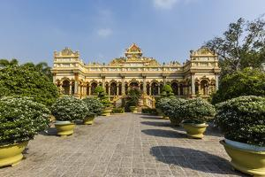 Garden Entrance to the Vinh Trang Pagoda, My Tho, Vietnam, Indochina, Southeast Asia, Asia by Michael Nolan