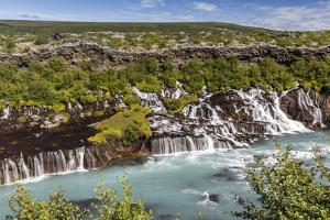 Hraunfossar, a Series of Waterfalls Pouring into the Hvita River, Borgarfjordur by Michael Nolan