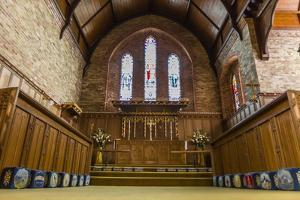 Interior View of the Anglican Church in Stanley by Michael Nolan