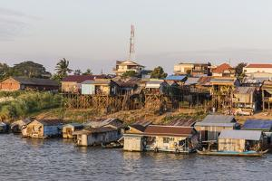 Life Along the Mekong River Approaching the Capital City of Phnom Penh, Cambodia, Indochina by Michael Nolan