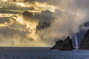 Mykines Coastline at Sunrise, Faroes, Denmark, Europe by Michael Nolan