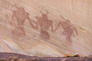 Native Pueblo rock art, Lower Calf Creek Falls Trail, Grand Staircase-Escalante National Monument,  by Michael Nolan