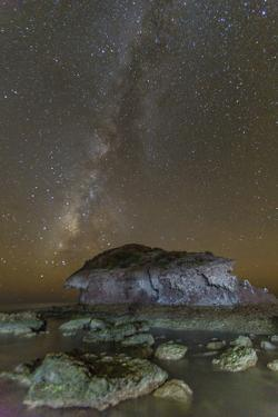 Night View of the Milky Way from Himalaya Beach, Sonora, Mexico, North America by Michael Nolan