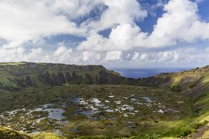 Orongo Crater, Rano Kau, Rapa Nui National Park by Michael Nolan