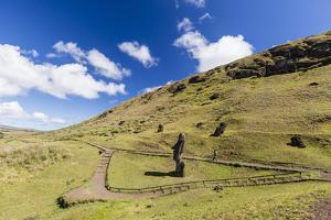 Rano Raraku, the Quarry Site for All Moai Statues by Michael Nolan