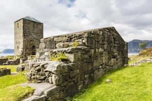 Remains of a Monastery at Selje, Nordland, Norway, Scandinavia, Europe by Michael Nolan
