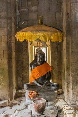 Shrine in Bayon Temple in Angkor Thom by Michael Nolan