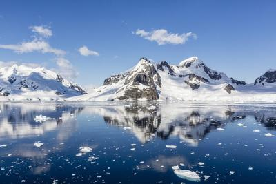 Snow-Capped Mountains in the Errera Channel on the Western Side of the Antarctic Peninsula