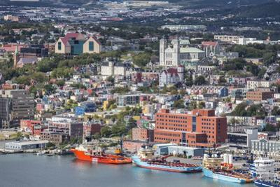 St. Johns Harbour and Downtown Area, St. John'S, Newfoundland, Canada, North America by Michael Nolan