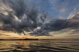 Sunset on Yanayacu Lake, Rio Pacaya, Pacaya-Samiria Reserve, Peru by Michael Nolan