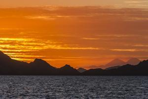 Sunset over Komodo National Park, Rinca Island, Flores Sea, Indonesia, Southeast Asia, Asia by Michael Nolan
