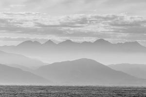 The Coastline of Kaikoura in Black and White, South Island, New Zealand, Pacific by Michael Nolan