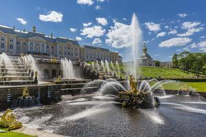 The Grand Cascade of Peterhof, Peter the Great's Palace, St. Petersburg, Russia, Europe by Michael Nolan