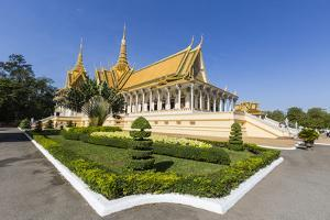 Throne Hall, Royal Palace, in the Capital City of Phnom Penh, Cambodia, Indochina by Michael Nolan