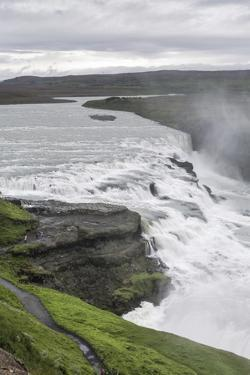 View of Gullfoss (Golden Waterfall) on the Hvita River, Iceland, Polar Regions by Michael Nolan