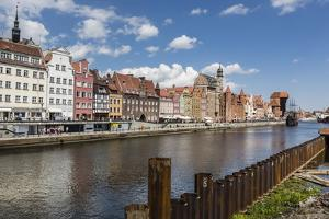 View of Old Town Gdansk from the Vistula River, Gdansk, Poland, Europe by Michael Nolan