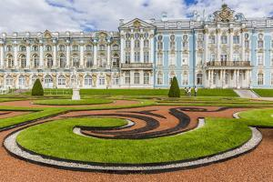 View of the French-Style Formal Gardens at the Catherine Palace, Tsarskoe Selo, St. Petersburg by Michael Nolan