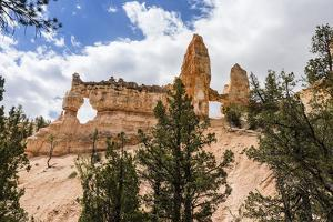 View of Two Towers Bridge from the Fairyland Trail in Bryce Canyon National Park, Utah, United Stat by Michael Nolan