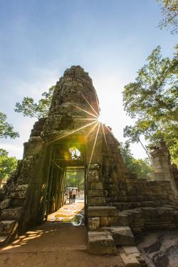 West Gate at Ta Prohm Temple (Rajavihara) by Michael Nolan