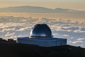 Observatory on Mauna Kea at Sunset, Big Island, Hawaii, United States of America, Pacific by Michael