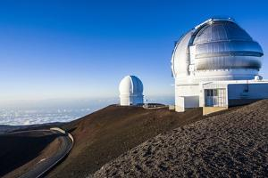 Observatory on Mauna Kea, Big Island, Hawaii, United States of America, Pacific by Michael