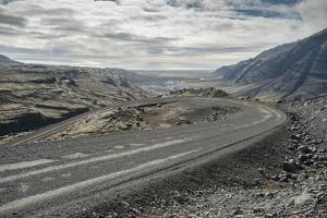 On the Road to Joklasel, Iceland, Polar Regions by Michael