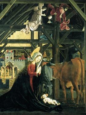 Nativity (Altarpiece of the Church of St. Wolfgang Im Salzkammergu), 1481 by Michael Pacher