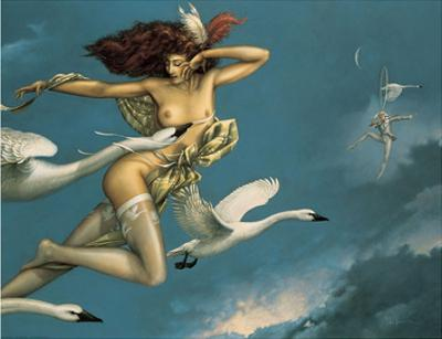 Night Flight by Michael Parkes